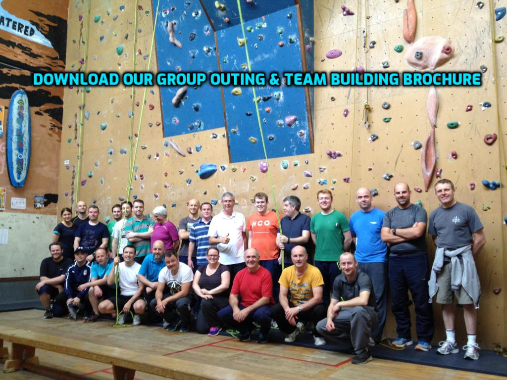 Team Building Activities - Indoor Rock Climbing and Archery Tag Packages available for a wide range of group outings