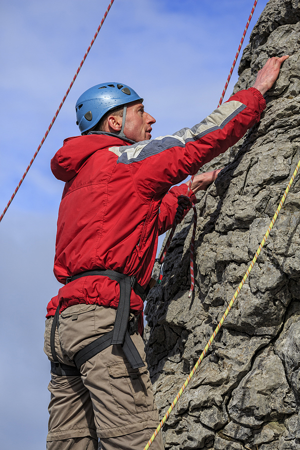 First timer taking part in Nevsail Outdoor Rock Climbing Course, no experience needed, Half or full day, Limerick/Clare