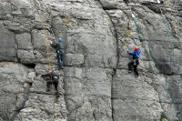 students rockclimbing in the burren co clare