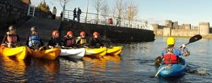 kayaking Limerick City with Nevsail Watersports for Corporate events and sports and social group outings