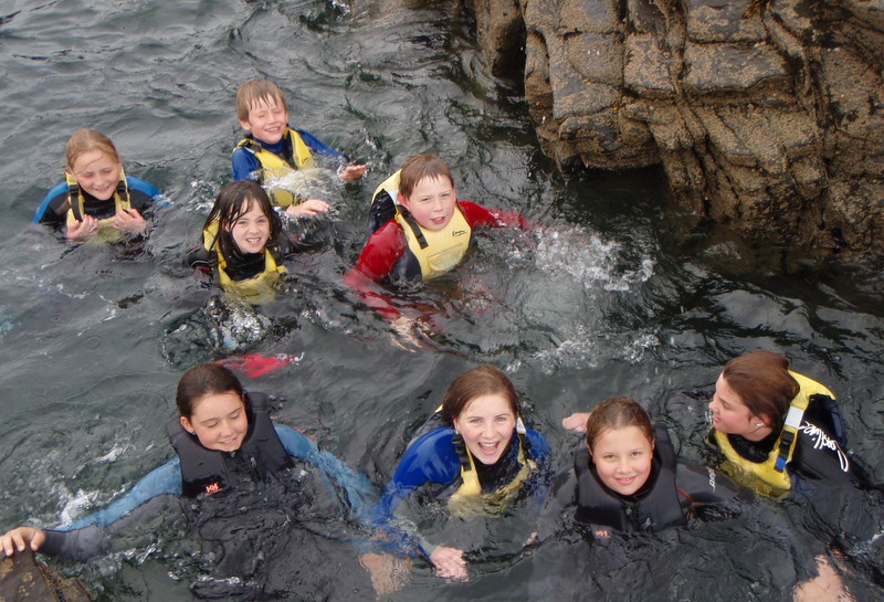 Coasteering on our Kilkee Co Clare School Tour Outing