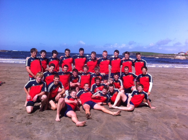 Munster under 20s give some team building a go at Nevsail